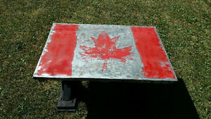 "custom built funky ""Canada"" coffee table"