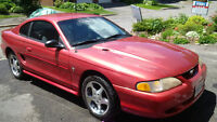 1996 Red Ford Mustang