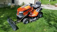"42"" Husqvarna Tractor with Snow Blade"