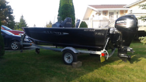 Lund reble 16 ft aluminum boat 2011