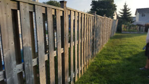 6ft high fence panels good shape