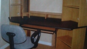 Concer computer desk with a chair
