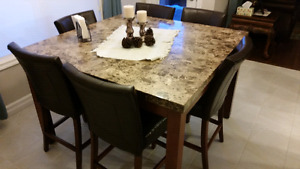 Mable top table - real stone!
