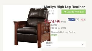 2 Leather recliners for sale