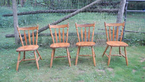 solid maple chairs