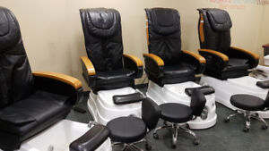 5 Professional Pedicure Chairs with Massage