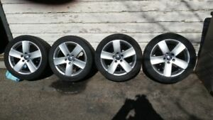 Factory rims fit VW and Audi's with Continental pure contacts