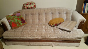 4-piece couch, loveseat and chair with ottoman