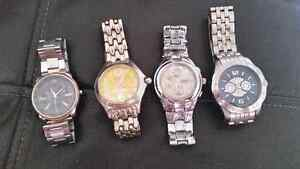 4 MEN'S WATCHES NEEDS BATTERY AS IS