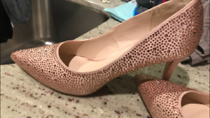 Blush Sequins High Heels