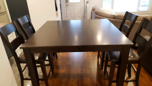 Bar Height Dining Table