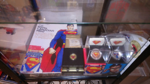 2014 gold superman coin + extras!