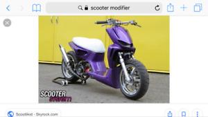 Réparation entretien modification recherche clientèle scooter