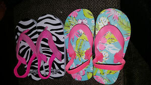 Size 7/8 sling back sandals 2 pairs brand new