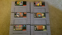 6 Super Nintendo Games - Round out your collection