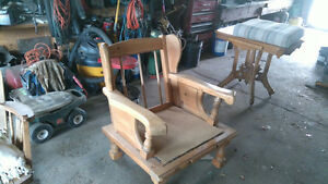 solid wood arm chair with ottoman Belleville Belleville Area image 3