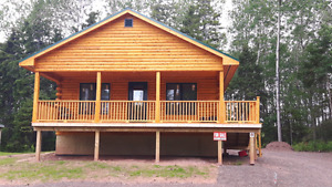 New Build Log Chalet For Sale In Tatamagouche