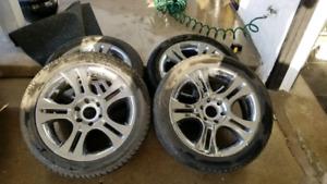 "20"" American Racing Teron rims and tires"