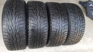 4-- 215/55R/16 HANKOOK WINTER I PIKE RS TIRES WITH LOTS OF TREAD