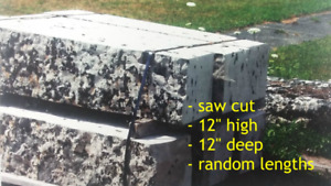 SAW CUT RETAINING WALL & ARMOUR STONE