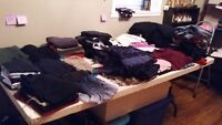 Clothes, clothes and more clothes for sale