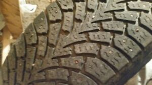 4 Used  Goodyear Nordic Winter tires with rims 235/65R17