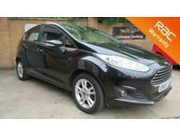 2014 Ford Fiesta 1.5 TDCi Zetec 5dr HATCHBACK Diesel Manual Black Cheap Car