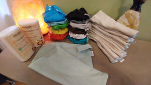 Size small AMP cloth diaper lot - gender neutral