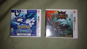 Selling - Monster Hunter Generations and Pokemon Alpha Sapphire