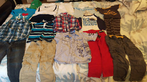 Lot of boy clothing size 4-5 and boy shoes size 29-31