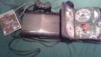 PS3 Super Slim 160GB Playstation 3 w 15 games, 1 controller