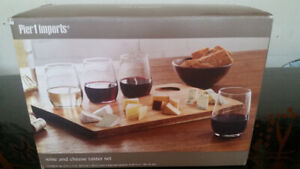 Wine and Cheese taster set by Pier 1 imports. New in the box