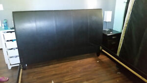 King leather bed frame