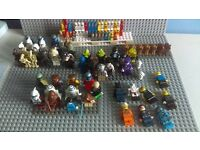 Lego 12kg mixed bricks Lego 48 figures, 49 micros, base plates joblot MORE!!