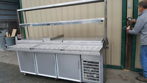 "prep cooler stainless steel topping cooler 9""feet long with down"