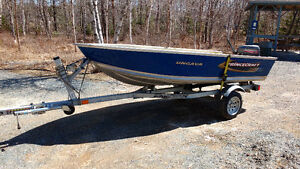 2013 princecraft Ungava,15 hp Johnson and galvanized karavan tra