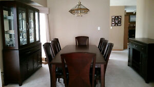 Dining Room Set - Table with 8 chairs, China Cabinet & Sideboard