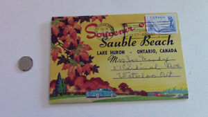 Sauble Beach Postcard Souvenir, 1957 Stamp-John Thompson Kitchener / Waterloo Kitchener Area image 1