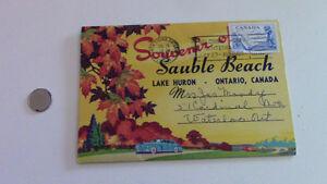 Sauble Beach Postcard Souvenir, 1957 Stamp-John Thompson