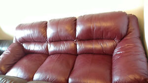 Sofa set, Three pieces Genuine Leather