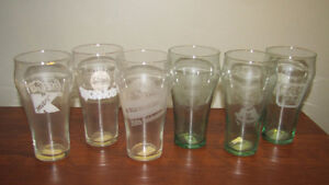 REDUCED - Lot of 6 Coca-Cola Bell Glasses - Commeratives