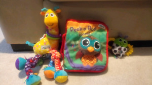 Lamaze peak a boo forest soft book, Rattle and Giraffe