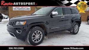 CERTIFIED 2016 JEEP GRAND CHEROKEE LIMITED - 75K - YORKTON