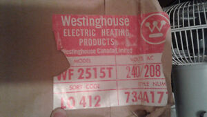 Westinghouse electric heater