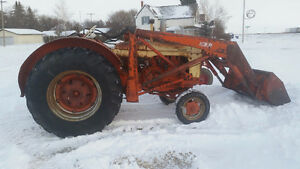 International 350 and Case Tractors