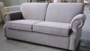 SOFA BED IN LEATHER OR FABRIC WITH MATTRESS made IN Canada