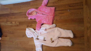 Baby winter suit 6 m and winter jacket clothes 3 m