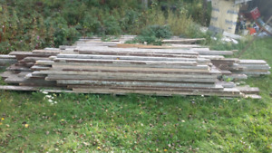 Used lumber 2x4 2x6 and boards
