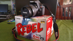 Canon EOS Rebel T5 - with 64GB SD Card & other Kit included