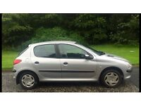 Automatic Peugeot 206 LX 1.4L 5 door (2001) full year mot low 48,000 miles